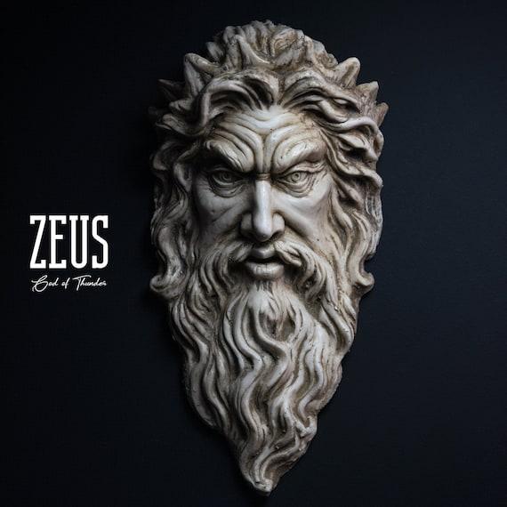 Zeus Sculpture God Of Thunder Wall Art Zeus Figure Etsy