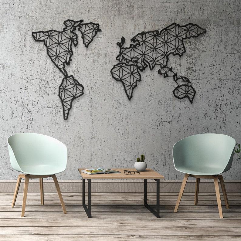 Wanddecoratie Wereldkaart Metaal.Metalen Wereldkaart Wereldkaart Metaal Wall Decor Metaal Etsy