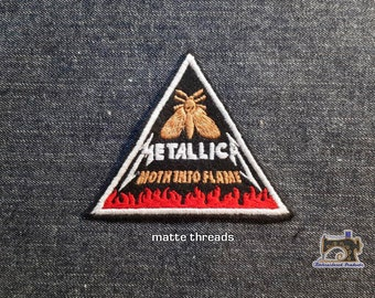 75c82c06c99 Metallica Moth into flame Embroidered Patch for a cap