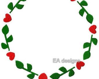 Flower heart frame circle 3 sizes