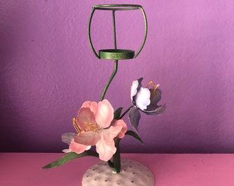 Vintage Floral Tealight Candle Holder