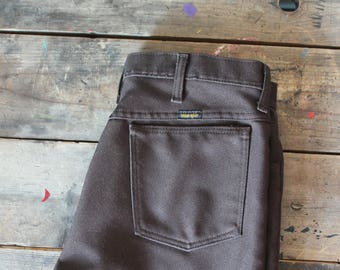Vintage Brown Wrangler Pants | Sta Prest | Boot Cut | 32x32 | Jean Style Pants | Made in USA