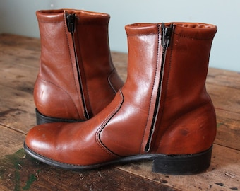 Vintage 60's Chelsea Boots | Western Dress | Size 9.5 | Made in USA