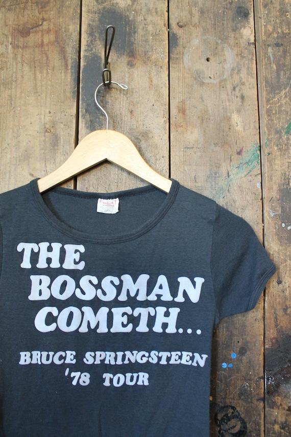 Bruce amp; Fashion Springsteen Bootleg RARE Small c T 1978 Sportswear Ladies Soft Shirt Thin WPaU4PIq