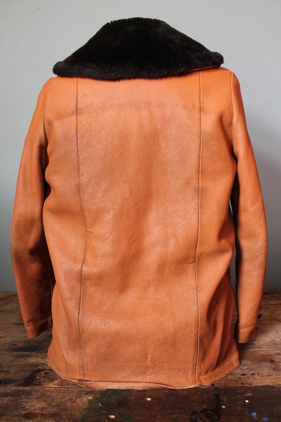 Distressed Size 60's Mid Ladies Stylish Shop Rare Custom Coat Large Leather Medium R1OwzxxF8q