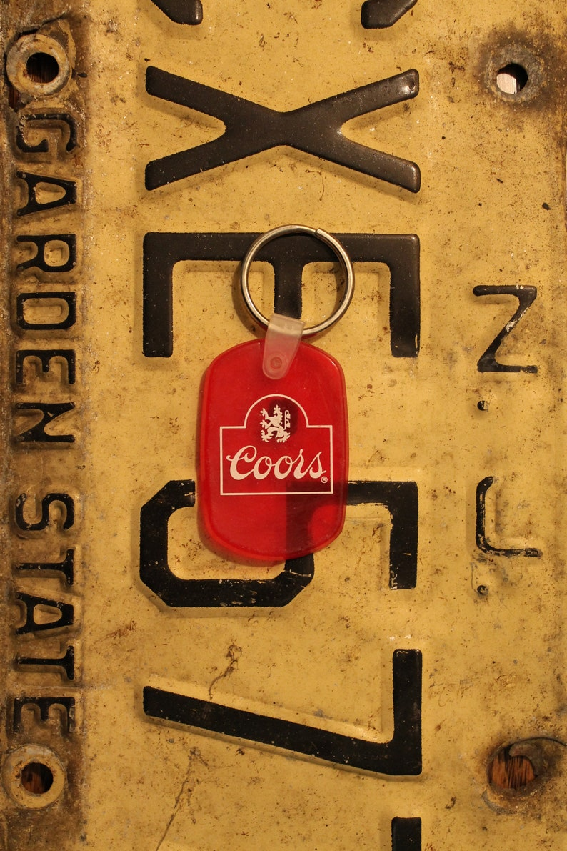 Coors Banquet Rubber Keychain Beer, Key Chain
