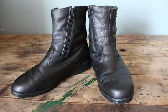 Vintage Leather Winter Boots | Blondo | Butter Soft Leather | Double Side Zippers | Size 11 US Mens
