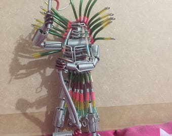 Figure made from recycled materials
