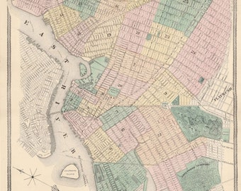 Map Of New York 1800.New York City 1800 Etsy