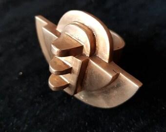 Amazing modernist ring - Extraordinary modernist ring