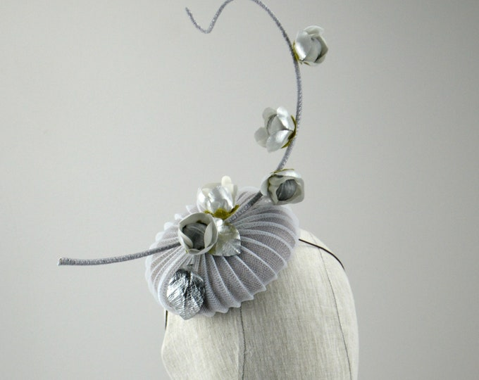MOONSHADOW -Grey Kentucky Derby Cocktail Hat.