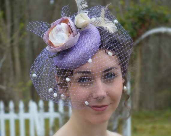 MIDSUMMER Lilac Button Fascinator