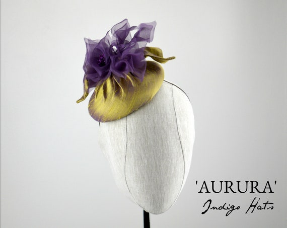 'AURURA' Silk Cocktail Hat
