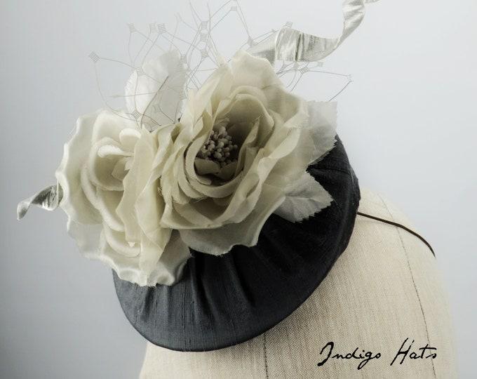 Contemporary Charcoal Grey Silk