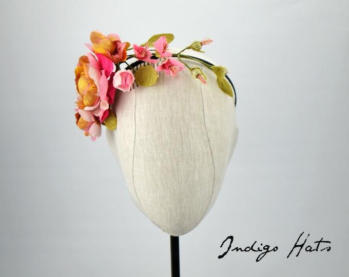 Floral handmade flower headpiece