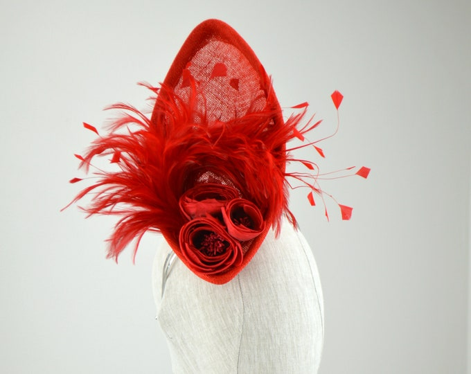 FIRECRACKER - Red Fascinator