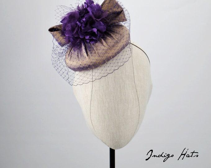 GILDED - Purple/gold dupioni silk