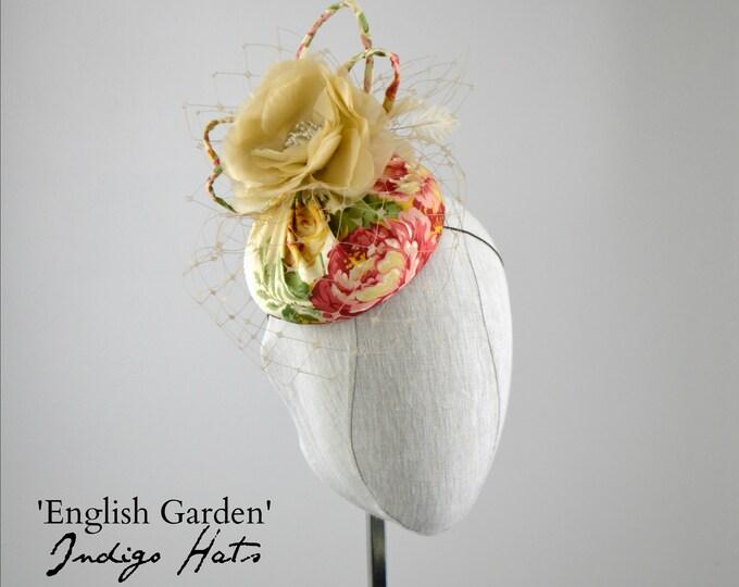 'English Garden' - Floral Cream and Pink Silk