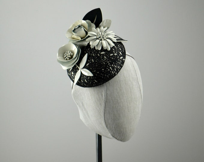 Black and Creamy White Leather