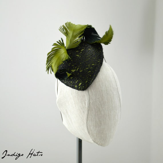 OOAK Olive Green and Black Leather