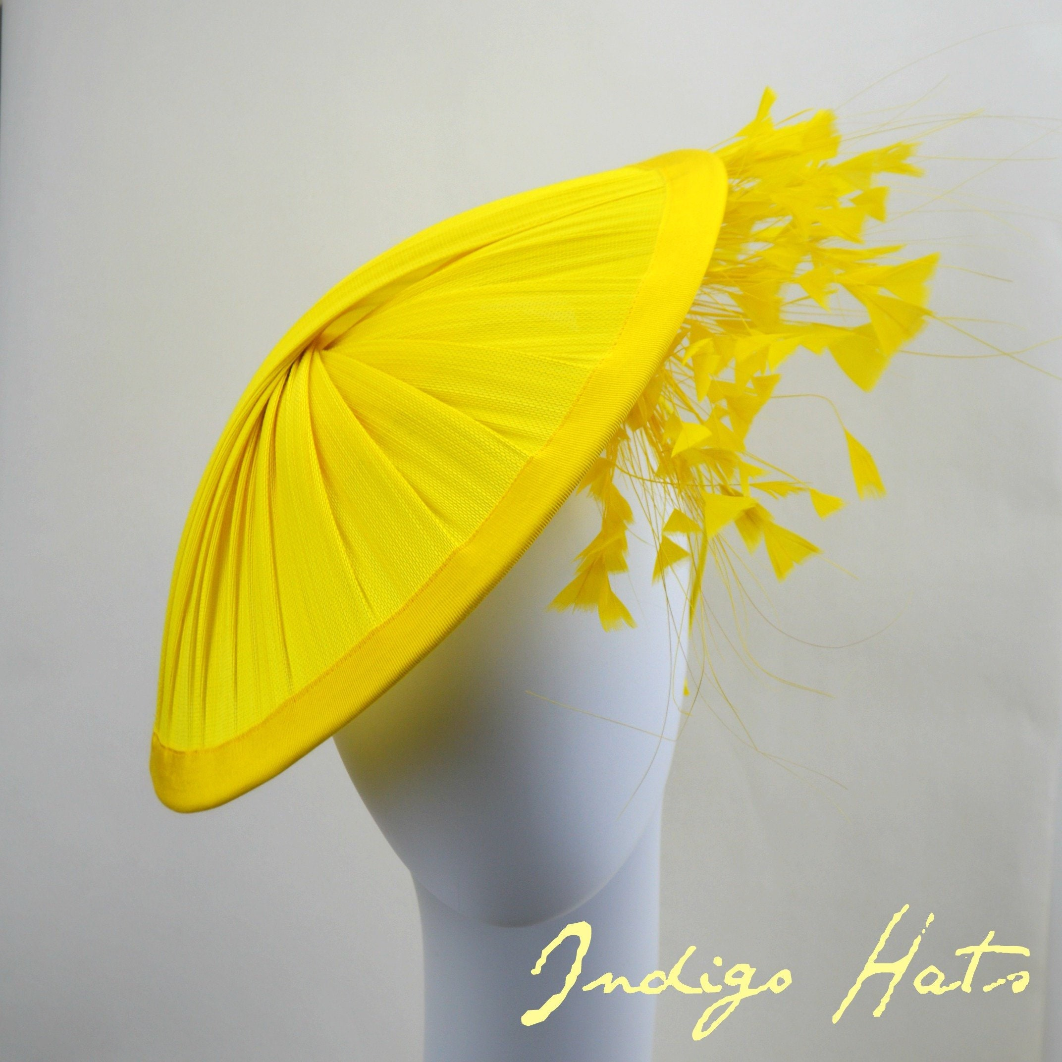 SUNSHINE - Yellow Kentucky Derby Hat for women, Yellow Royal Ascot
