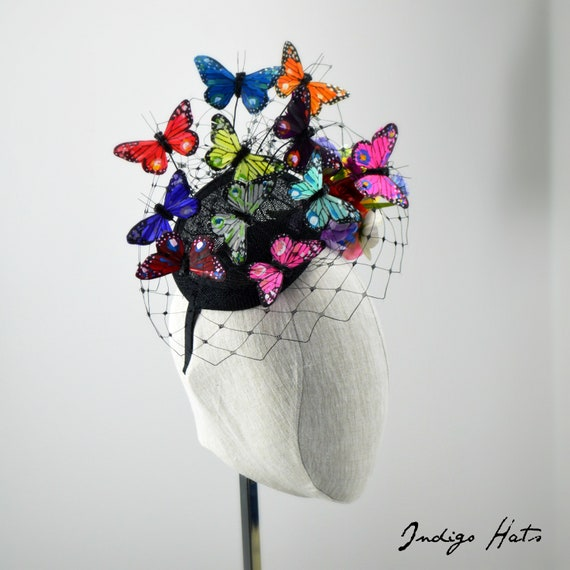 RAINBOW BUTTERFLY FASCINATOR