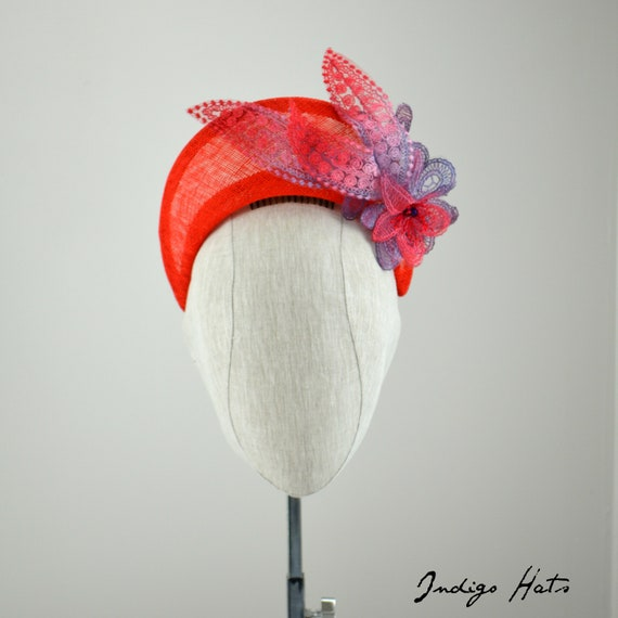 ALLURA - Headpiece in Red