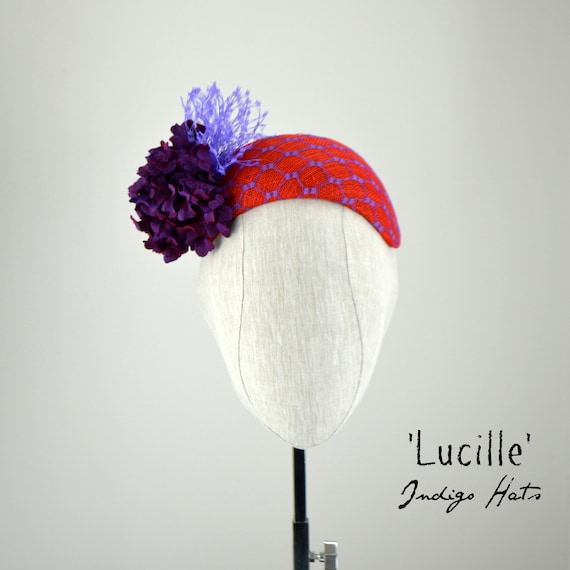 LUCILLE - Bandeau in Red and Purple