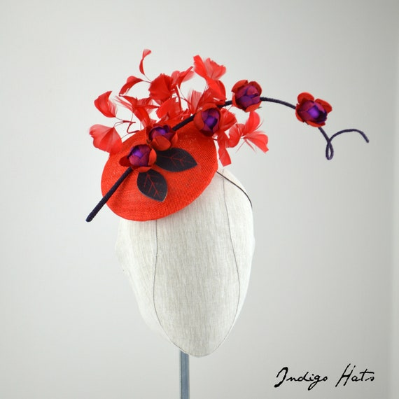 RUBY - Red Fascinator