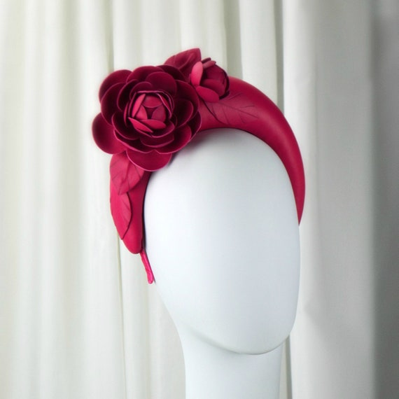 Pink Leather Halo Headband