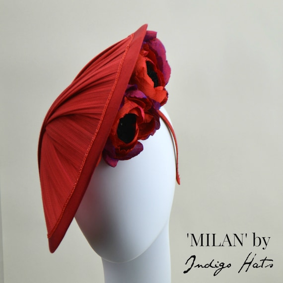 MILAN - Red Jinsin Saucer Hat