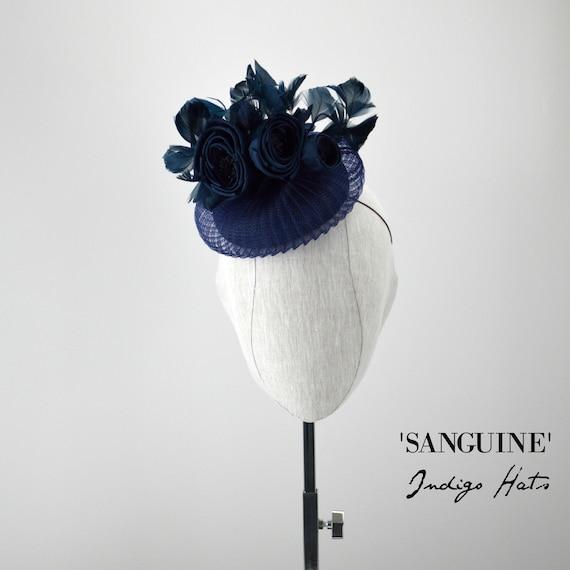 SANGUINE - Navy Cocktail Hat