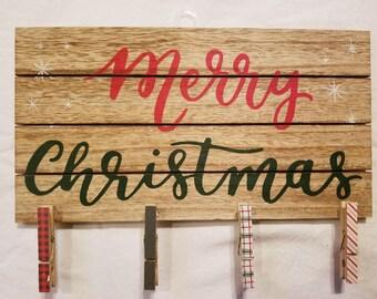Christmas home decor sign