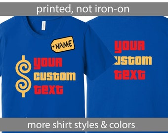 0e837b65 Custom Printed Price is Right Shirt, Personalized Price is Right Shirt,  Custom Text Prices Right Shirt, Customized is Right Shirt, Printed