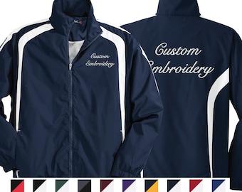 Customized Sport-Tek Full-Zip Jacket, Monogrammed Warm-Up Jacket, Embroidered Water Repellent Jacket, Personalized Sports Team Jacket