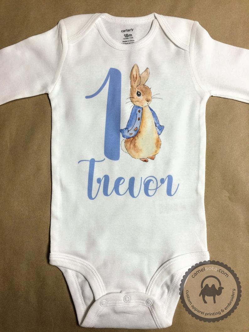Peter Rabbit Name Shirt Peter Rabbit Birthday Shirt Peter Rabbit Printed Shirt Peter Rabbit Nursery Peter Rabbit Raglan Peter Rabbit Shirt