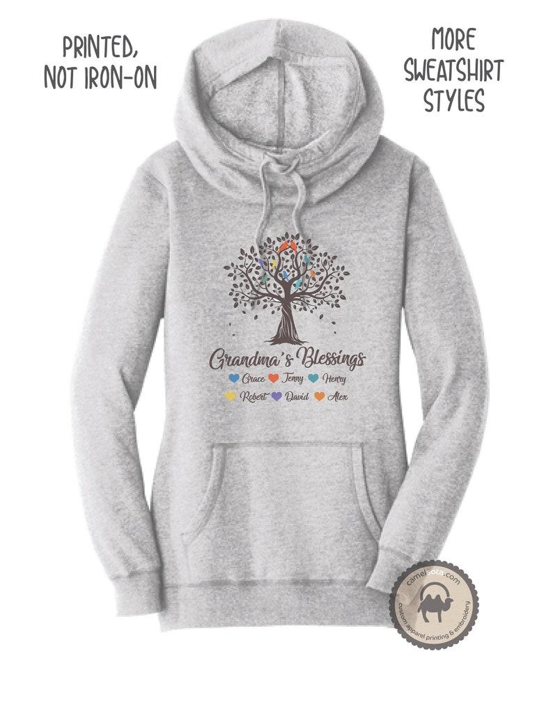 Sweat Sweatshirt Avec Petits Hoodie Grand Enfants À Personnalisé Capuche Noms Mère 0nXwPk8O