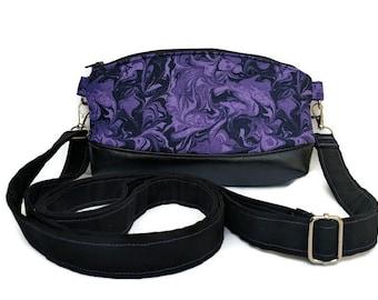 d22f0193bb Deep Purple Vegan Leather Crossbody Bag   Vegan Handbag With Adjustable  Strap   Messenger Purse   Simple Crossbody   Small Purse