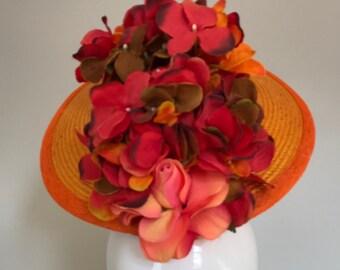 Tangerine Dream   - Hat Couture Wedding/Races/Mother of Bride Designer Hat