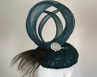 Just Another Day in Paradise   - Hat Couture Wedding/Races/Mother of Bride Designer Hat