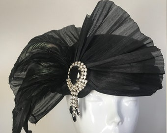 Rock the Casbah - Hat Couture Wedding/Races/Mother of the Bride Designer Hat