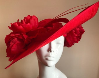 A Passion for Peonies - Hat Couture Wedding/Races/Mother of the Bride Designer Hat