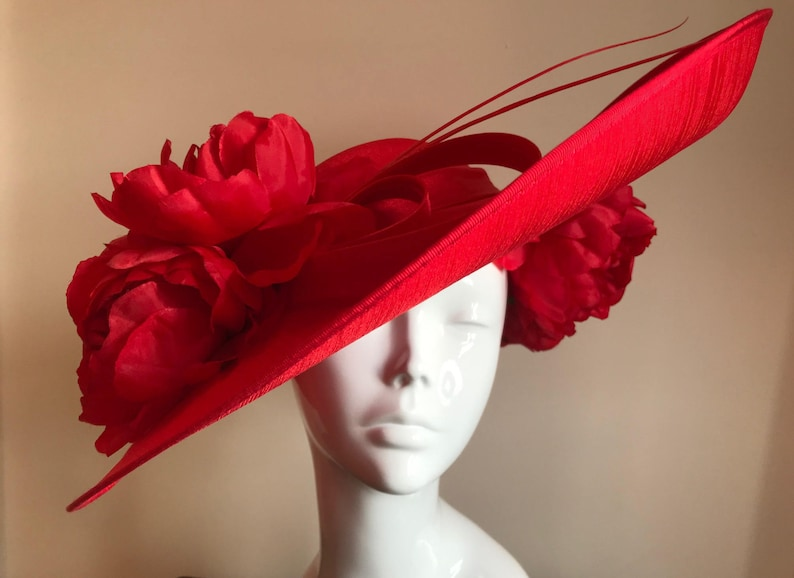 A Passion for Peonies  Hat Couture Wedding/Races/Mother of image 0