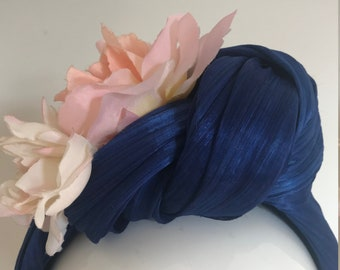 Blossoms from the Blue Lagoon   - Hat Couture Wedding/Races/Mother of Bride Designer Hat