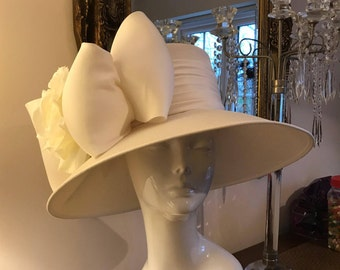 Champagne and Roses - Hat Couture Wedding/Races/Mother of the Bride Designer Hat