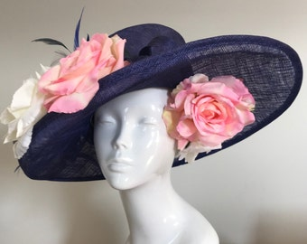 A Tryst in the Tuileries  - Hat Couture Wedding/Races/Mother of the Bride Designer Hat
