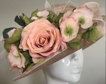 Autumn in Amritsar  - Hat Couture Wedding/Races/Mother of Bride Designer Hat