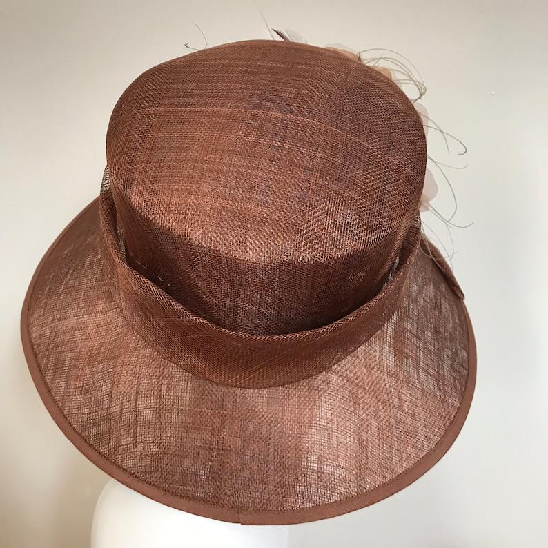 Hat Couture WeddingRacesMother of Bride Designer Hat Copper Beech Dreaming