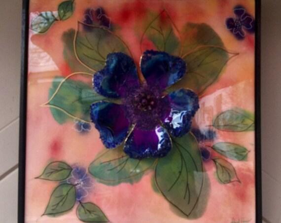 Blue Flower in 3D