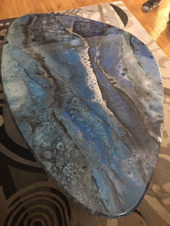 Local Pickup Only      Tribeca Epoxy Resin TableLOCAL Pickup OnlyTribeca Epoxy Resin Table